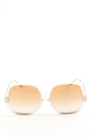 eckige Sonnenbrille nude Elegant