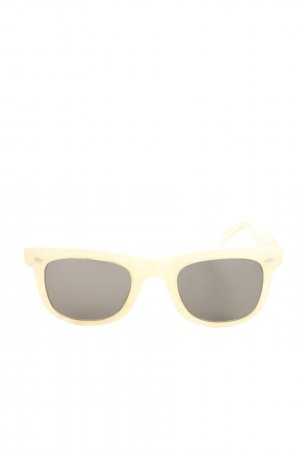 R.T.CO eckige Sonnenbrille blassgelb Casual-Look