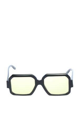 UNIQUEDESIGNMILANO eckige Sonnenbrille schwarz-blassgelb Casual-Look