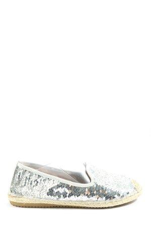 Windsor Espadrille sandalen zilver casual uitstraling