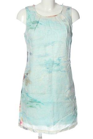 Carmen March Vestido ceñido de tubo turquesa estampado floral look casual