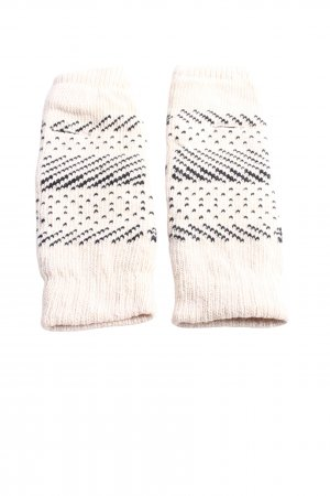 Mittens cream graphic pattern casual look