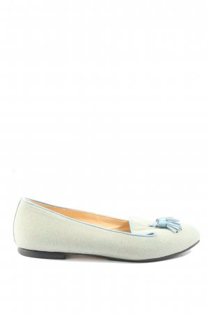 monaco duck Bailarinas plegables blanco puro-azul look casual