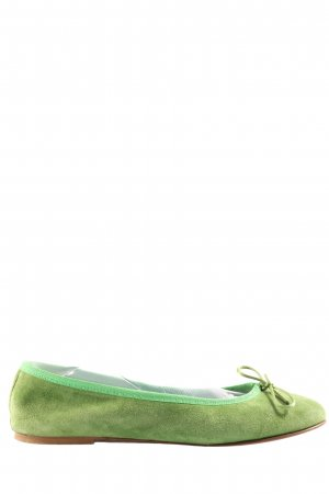 Foldable Ballet Flats green casual look