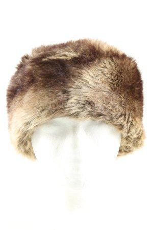 MGR Cappello in pelliccia marrone-crema stile casual