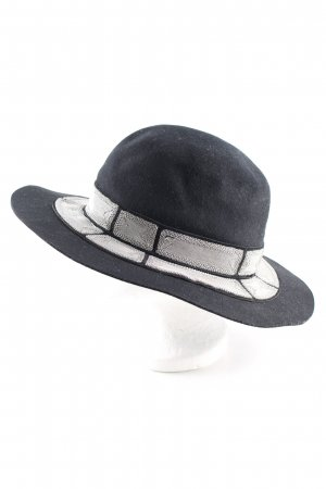 Felt Hat black-silver-colored elegant