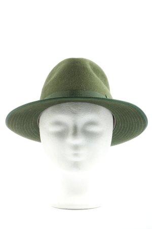 Fine Reiff Felt Hat khaki casual look