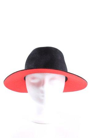 Felt Hat black-red elegant