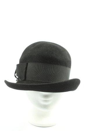 Sombrero de fieltro negro look casual