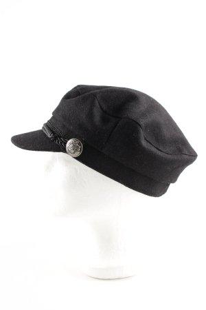 Chapeau en feutre noir style décontracté