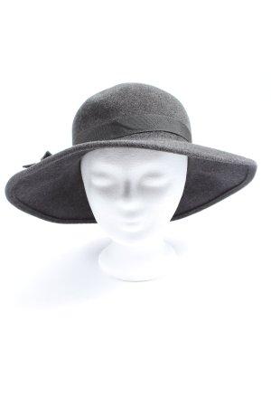 Felt Hat light grey flecked casual look