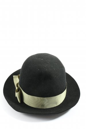 Felt Hat black-natural white casual look