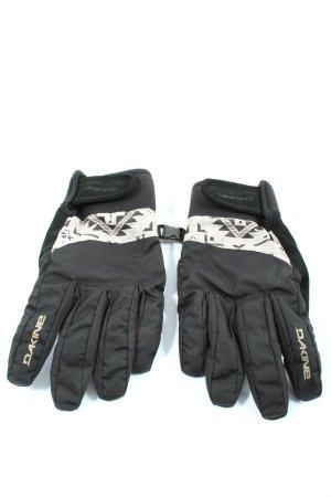 Dakine Fingerhandschuhe schwarz-weiß Motivdruck Casual-Look
