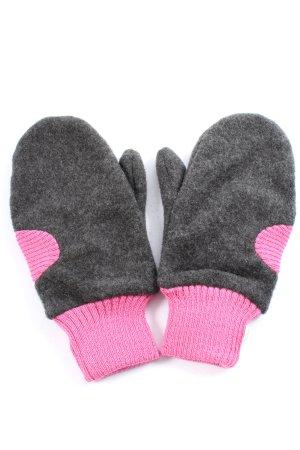 nordprodukt Fingerhandschuhe hellgrau-pink meliert Casual-Look