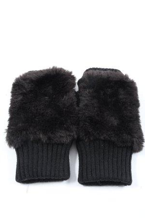 Handschoenen zonder vingers zwart casual uitstraling