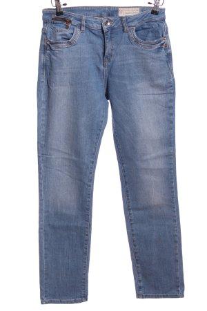 Spodnie z pięcioma kieszeniami niebieski W stylu casual