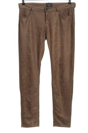 Puppick Spodnie z pięcioma kieszeniami brązowy Zwierzęcy wzór W stylu casual