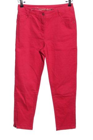 Spodnie z pięcioma kieszeniami czerwony W stylu casual