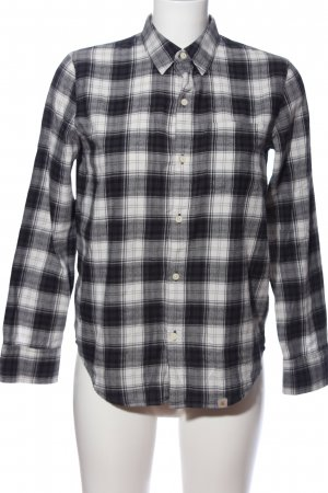 rugged outdoor wear carhartt Camisa de franela negro-blanco look casual
