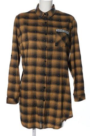 crazy QUEEN Chemise en flanelle brun-noir motif à carreaux style décontracté