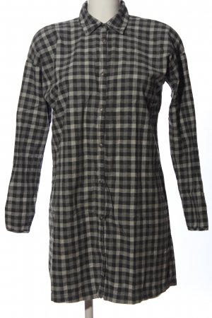 Fifty five Flannel Shirt light grey-black check pattern casual look