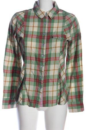 Chemise en flanelle vert-brun motif à carreaux style décontracté