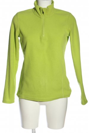 Pullover in pile verde stile casual