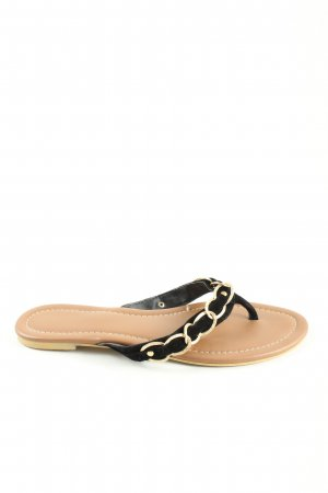 VNC Flip-Flop Sandals black-gold-colored casual look