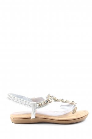 OOG Flip flop sandalen wolwit-wit elegant