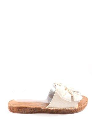 Flip flop sandalen wolwit-bruin casual uitstraling