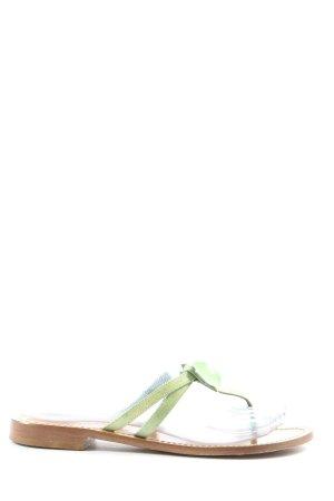Tong vert style décontracté