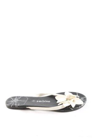 Sabino Zehentrenner-Sandalen weiß-schwarz Casual-Look