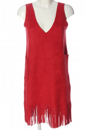 JieLan Fringed Dress red casual look
