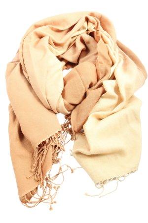 kashmir Écharpe à franges blanc cassé style décontracté