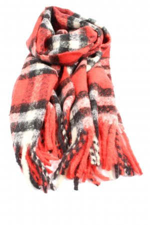 Fringed Scarf check pattern casual look