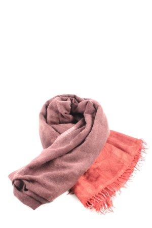 Fransenschal braun-rot Casual-Look