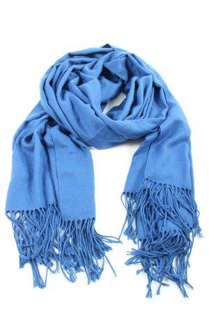Lekuni Écharpe à franges bleu style décontracté