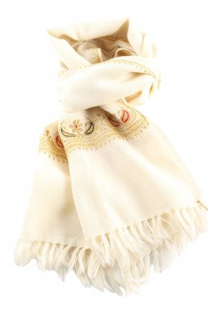 Fringed Scarf themed print casual look