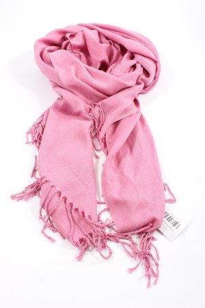 Écharpe à franges rose style décontracté