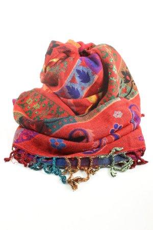 Sjaal met franjes volledige print casual uitstraling
