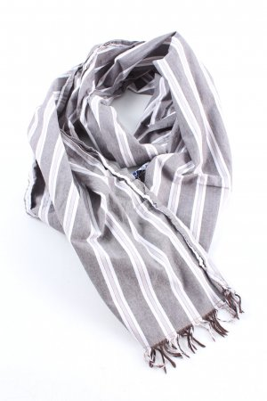 Fringed Scarf striped pattern casual look