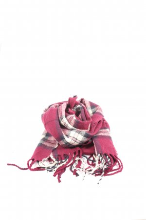 Sjaal met franjes geruite print casual uitstraling