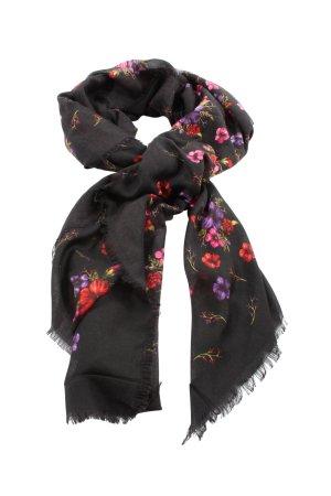 tac mahal Sjaal met franjes bloemenprint casual uitstraling