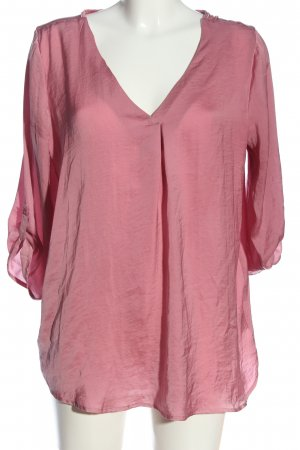 tom&rose Glanzende blouse roze casual uitstraling
