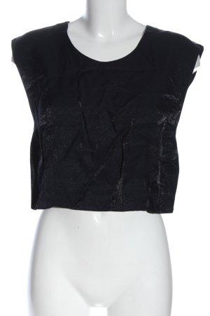 Blusa brillante nero stile casual