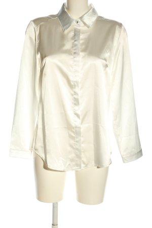 Połyskująca bluzka kremowy W stylu biznesowym