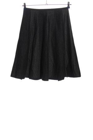 Rozkloszowana spódnica czarny Na całej powierzchni W stylu casual