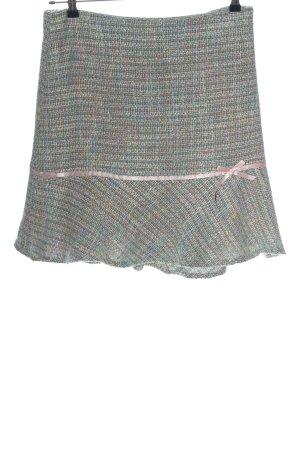 tailor new york Gonna a campana grigio chiaro-blu motivo a quadri stile casual