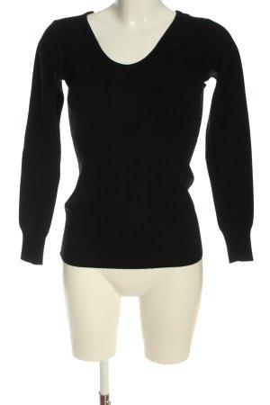 PASSIONE Sweter z grubej dzianiny czarny W stylu casual