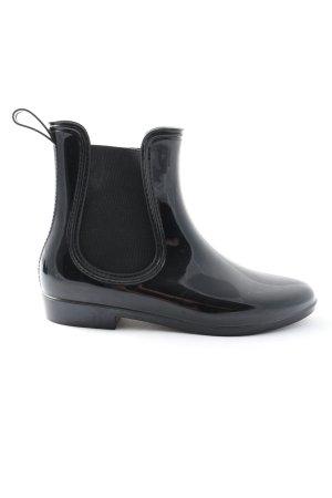 Wellington laarzen zwart casual uitstraling